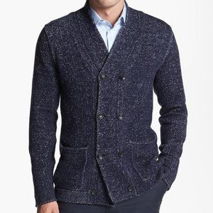 Armani Collezioni Double Breasted Wool Cardigan